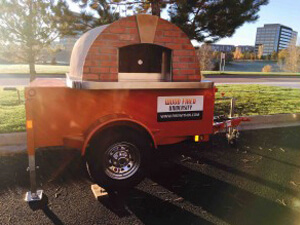 Pizza oven trailer