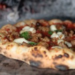 wood fire sausage pizza 2