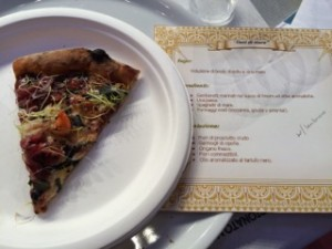 Some pizzas makers submit a recipe card to the judges, especially if they don't speak fluent Italian or English.