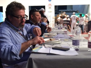 Jonathan Goldsmith, of Chicago's wonderful Spacca Napoli, judging with his fellow judges