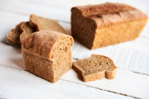 These loaves were made with 100% sprouted whole wheat flour -- the best whole wheat bread you will ever taste, due to the flavor transformation created by the sprouting.