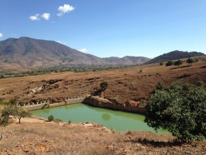 Eduardo Angeles's water reservoir project, to collect the rain, which comes infrequently.