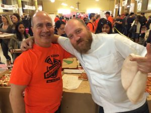 John Arena and pizza champion, Nino Coniglio