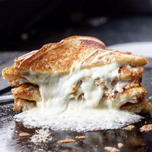 Serious grilled cheese done on the Steel.