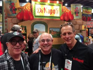 That's me sandwiched between the legendary Paulie Gee, of Brooklyn, and Rob DiNapoli, the tomato sauce king.
