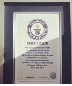 It's official --take it to the record book!