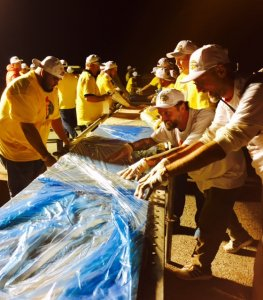 Trying to keep the dough from crascking.