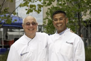 Ajith and Peter at the recent Wood-Fire Oven University in Denver.