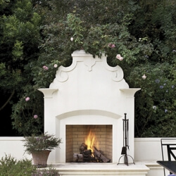 Forno Bravo outdoor fireplaces are made from high-tech refractory and will last a lifetime. The interlocking design is easily installed. Buy online.