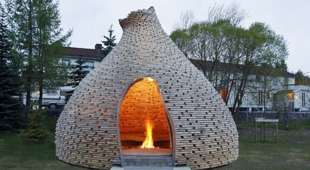 Norway Outdoor Fireplace