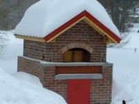 Pompeii DIY Brick Oven - Winter Photo - Ovem Maine
