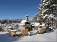 Giardino Pizza Oven Winter Photo - Sangre de Cristo NM