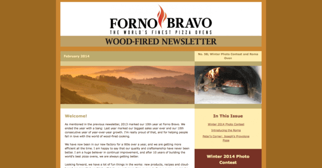 Forno Bravo newsletter