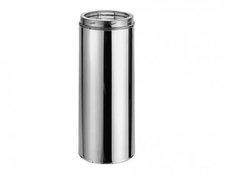 """6"""" Duratech 24"""" Stainless Steel Chimney Pipe Double Wall"""
