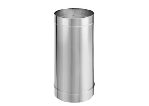 6x24 Single Wall Stainless Chimney Extender