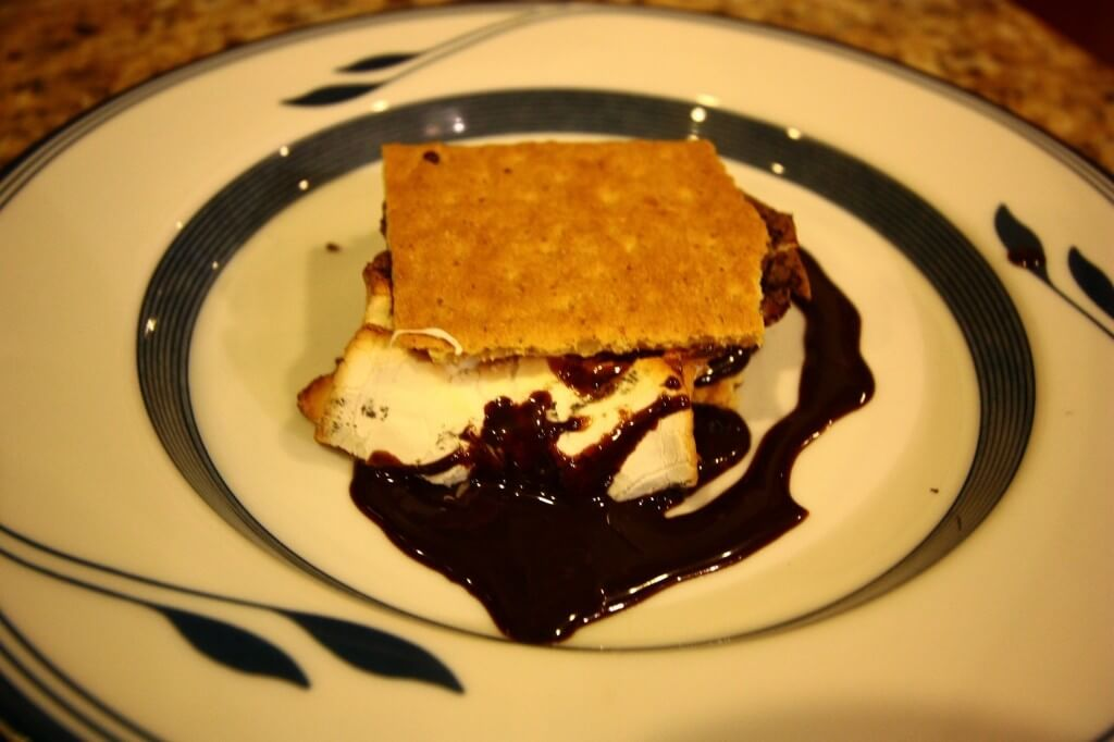 wood-oven s'mores