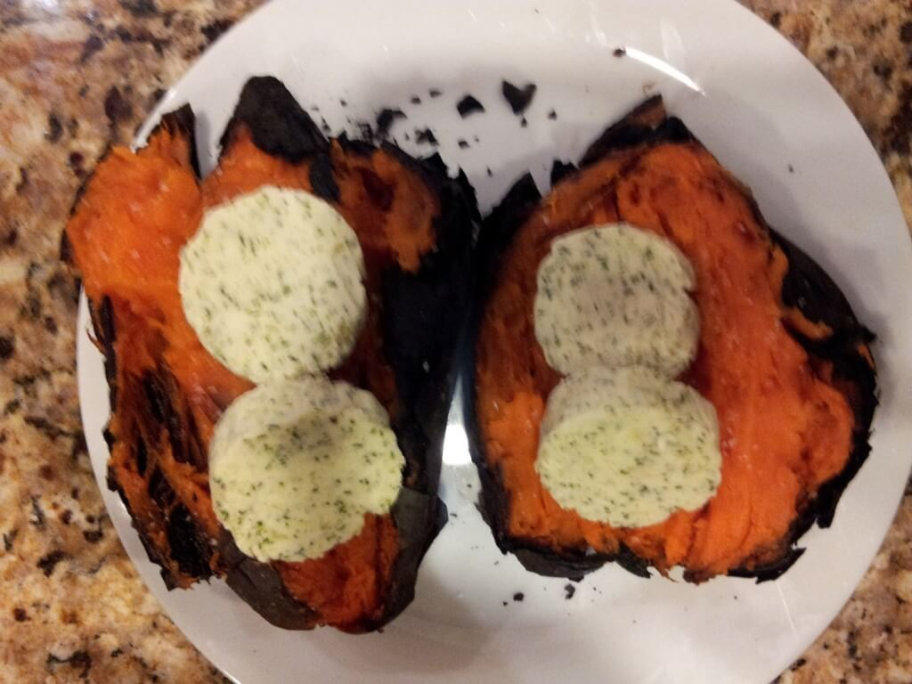 ash-roasted sweet potatoes