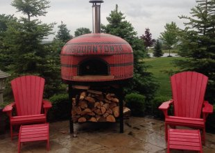 custom home pizza oven, wood fired pizza oven, vesuvio80 pizza oven, forno bravo