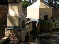 Toscana90H Pizza Oven and Outdoor Fireplace