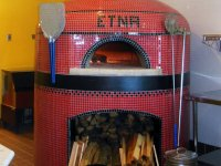 Red napoli and enclosed stand - fire wood - peels