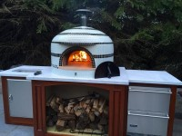 custom home pizza oven, wood fired pizza oven, napolino70 pizza oven, forno bravo