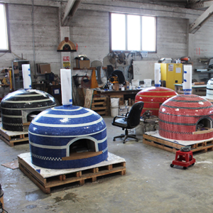 tiled ovens at factory