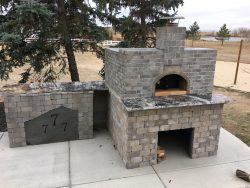 casa pizza oven stone and marble installation