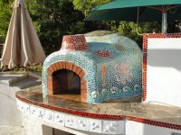 Giardino Wood Fired Pizza Oven Custom Tile - Sacramento