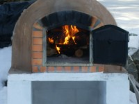 Pompeii DIY Brick Oven Winter Photo