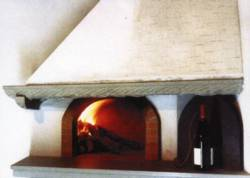 artinside of pizza oven