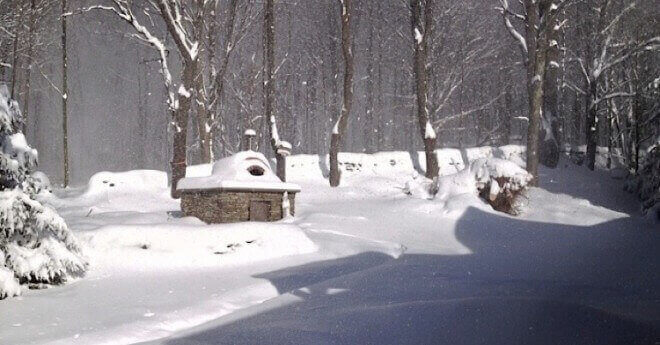 Casa Home Pizza Oven Winter Photo Bovina NY 3