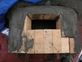 vent opening for pizza oven