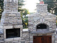 Casa Pizza Oven and Calore Fireplace - Charlevoix MI