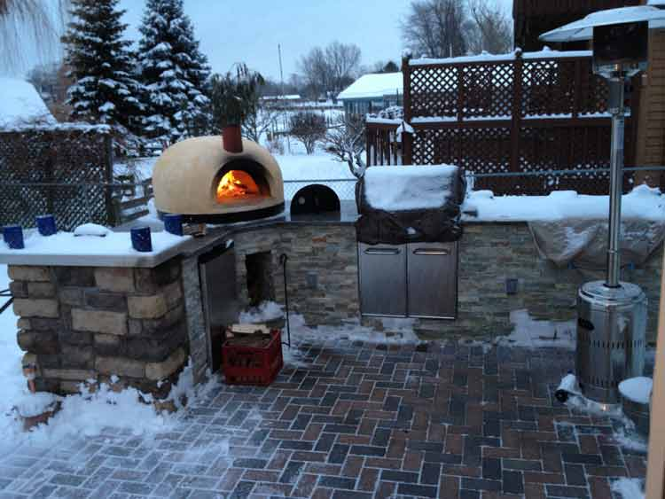 Primavera Outdoor Pizza Oven Winter Photo in Chesterfield MI