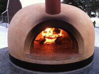 Primavera60 Countertop Wood Fired Oven in Winter - Chesterfield MI