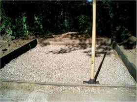 compacted gravel base