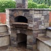 Premio modular pizza oven with stone veneer