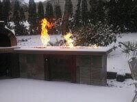 Competitor Oven Winter Photo with Fire Table