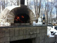 Pompeii DIY Brick Oven Winter Photo Grand Island NY