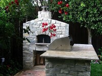 Casa Home Pizza Oven Stone LA Front View