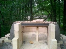 opening and vent sides for pizza oven