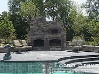 Pizza Oven & Fireplace side by side