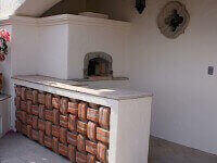Pompeii Brick Oven - Stucco Finish Puerta Vallarta Mexico