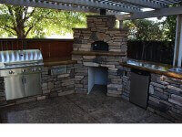 Casa Home Pizza Oven in Patio with Pergola - Rock - Roseville CA