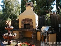 Toscana Hipped Pizza Oven with Rock Finish Sacramento