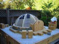 Styrofoam Dome garden design: garden design with dome versus vs barrel oven types