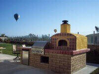 Casa Outdoor Pizza Oven in Temecula with Stucco / Tile Finish