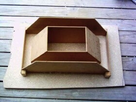 vent mold for brick pizza oven