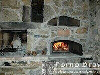 Casa Home Pizza Oven Indoor Install Recessed in Stone Wall