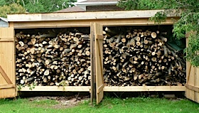 firewood fuelwood wood storage